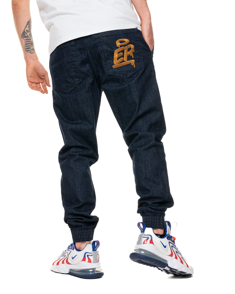 Spodnie Jeans Jogger Slim El Polako Ep Tag Ciemnoniebieskie