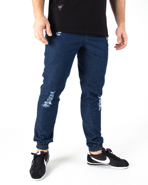 Spodnie Jogger Moro Mini Paris Pocket Damage Wash Jeans