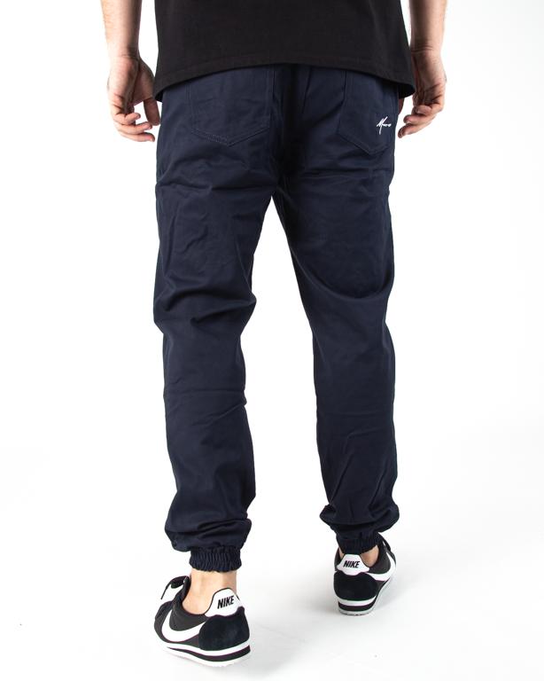 Spodnie Jogger Moro Mini Paris Pocket Granatowy Tkanina
