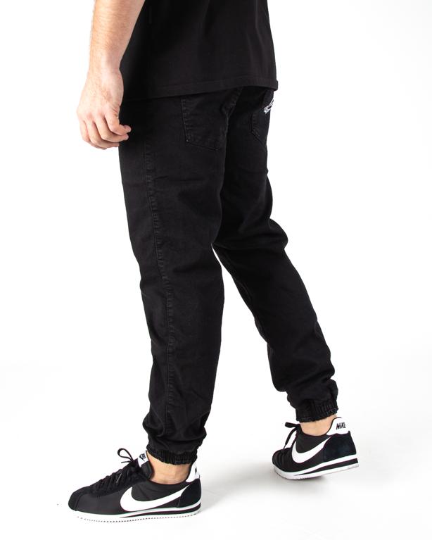 Spodnie Jogger Moro Paris Laur Pocket Czarny Jeans
