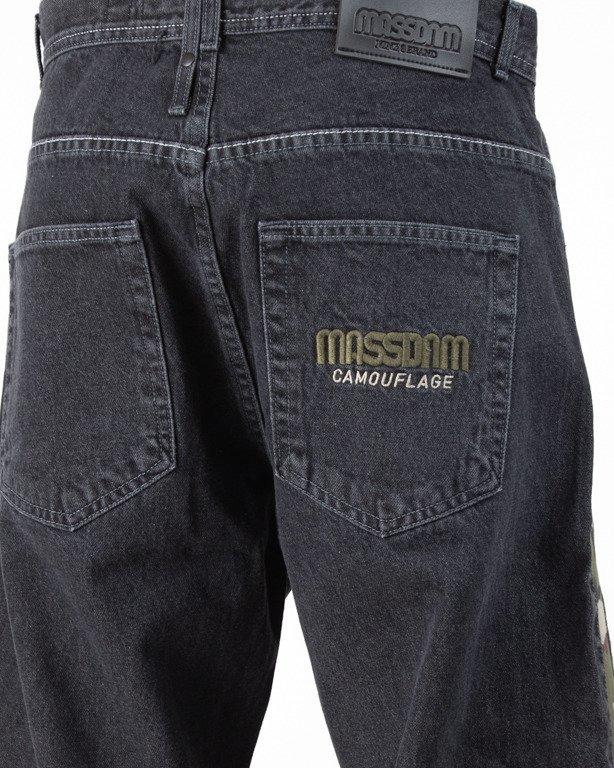 Spodnie Mass Jeansy Baggy Shelter Black