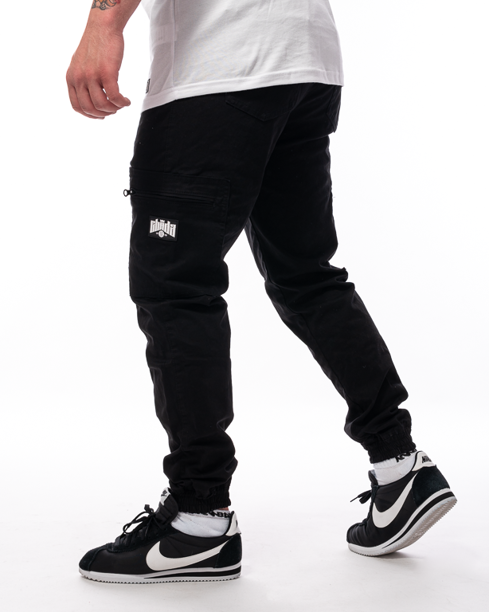 Spodnie Materiałowe Jogger Bojówki Proceder Czarne