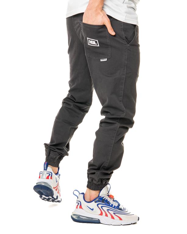 Spodnie Materiałowe Jogger New Bad Line Icon Grafitowe