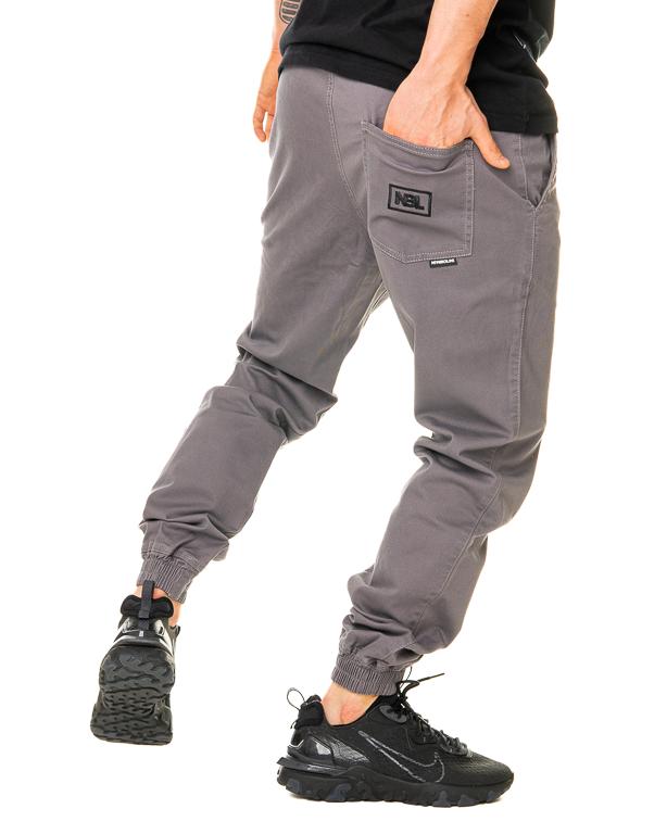Spodnie Materiałowe Jogger New Bad Line Icon Jasnoszare
