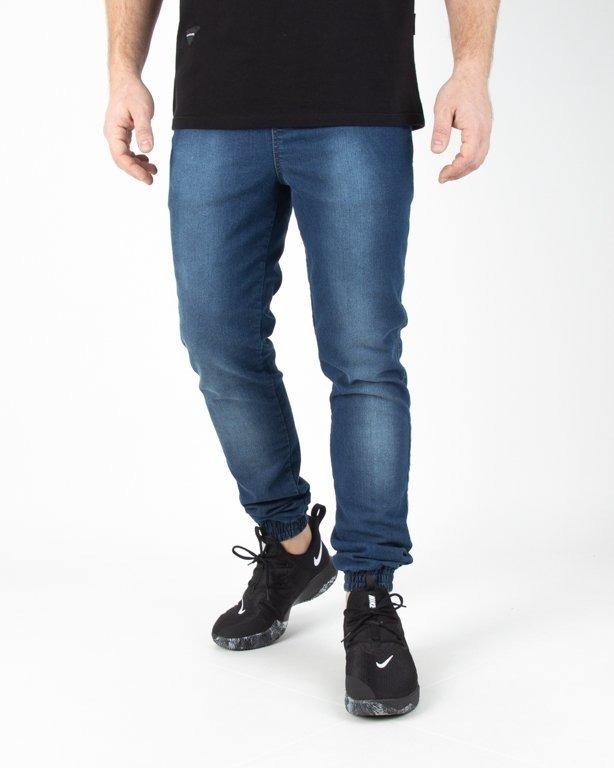 Spodnie Moro Jeansy Joggery Form Pocket Przecierane Medium