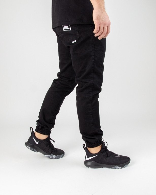 Spodnie New Bad Line Jeans Jogger Icon Black