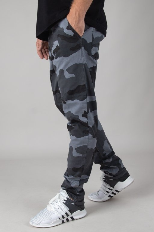 Spodnie SSG Chino Stretch Skinny Camo Grey