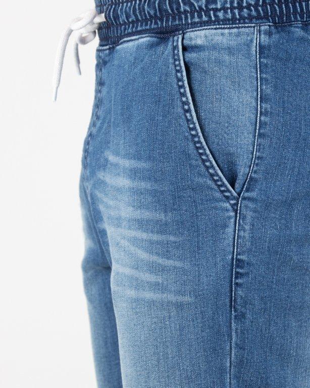 Spodnie SSG Jeansy Jogger Premium Wycierane Z Zagnieceniami Light