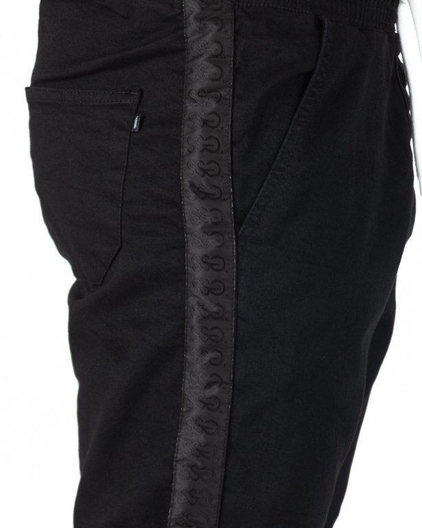 Spodnie SSG Jeansy Joggery Czarny Lampas Black