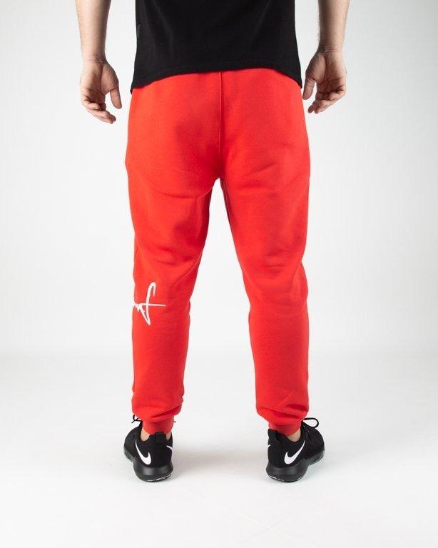 Spodnie Stoprocent Dresowe Jogger Kneetag Red