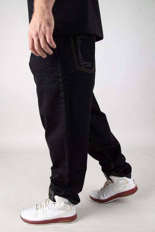 Spodnie Stoprocent Jeansy Baggy Slicetag Black