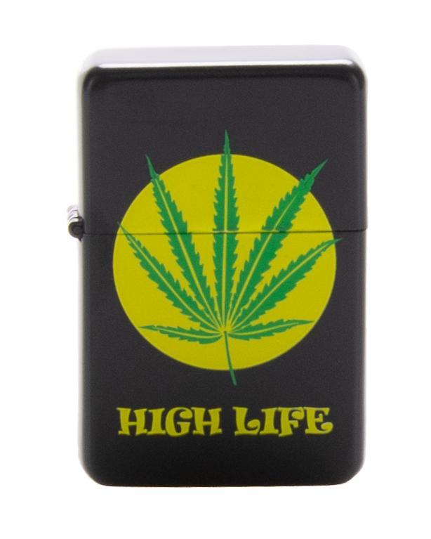 Zapaliczka Metalowa High Life Black-Yellow 49
